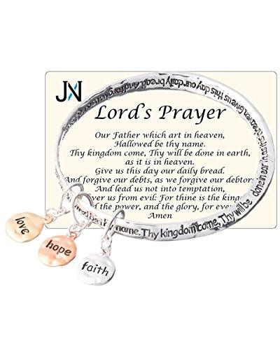 Lord s Prayer Faith Hope Love Charm Twist Bangle I…