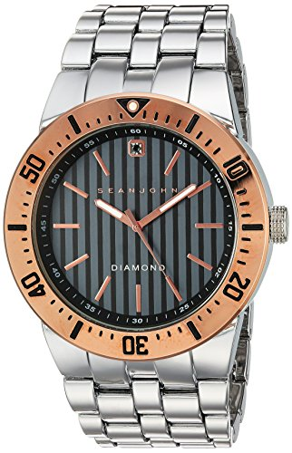 Sean-John-Mens-Diamond-Quartz-Metal-and-Alloy-Casual-Watch-ColorSilver-Toned-Model-10030888