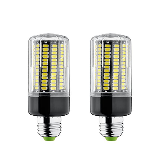 Bogao 2-Pack 15W E26/E27 156 LED 5736 SMD LED Corn Bulb,Replacement Incandescent Bulbs,White light 6000K,1300 Lumens, Energy Saving Home Light Bulbs Lamp with Cover(No-Dimmable) (Led Light Corn compare prices)
