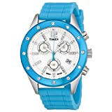 Timex Women's T2N833AB Originals Sport Chronograph Crystal Accents Blue Strap Watch