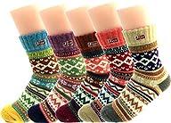 Jiye Women's Multi Color Wool Winter…