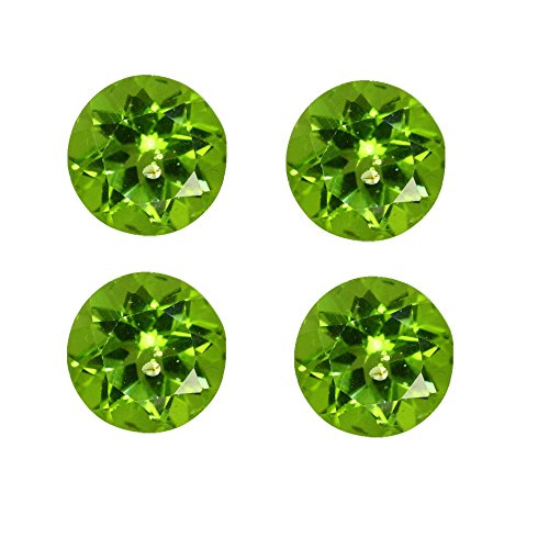 Natural Peridot Aaa Quality Loose Gemstone 1 Mm Faceted Round 25 Pieces Lot From Dashrath International front-784278