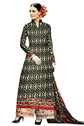 Lebaas Black Printed Cambric Cotton Ready to Stitch Dress Material