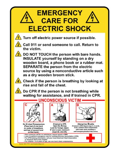 Compliancesigns Aluminum First Aid Sign, 10 X 7 In. With English Text, Yellow