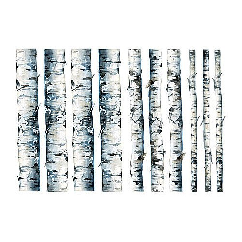 Wallies 15210 Birch Trees Wallpaper Mural, 2-Sheet