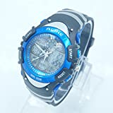 Panegy Outdoor Waterproof Boys Girls Cool Sport Digital Alarm Stopwatch Chronograph Wrist Watch Gift Display - Blue