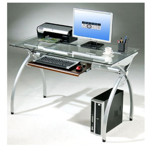 Yiloto buy techni mobili alterna glass top metal computer for Mobili computer