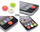 BONAMART ® 6 X Daisy 3D Fashion Home Button Sticker For iPhone4/4S/5 iPad2/3/4/Mini iTouch iPod