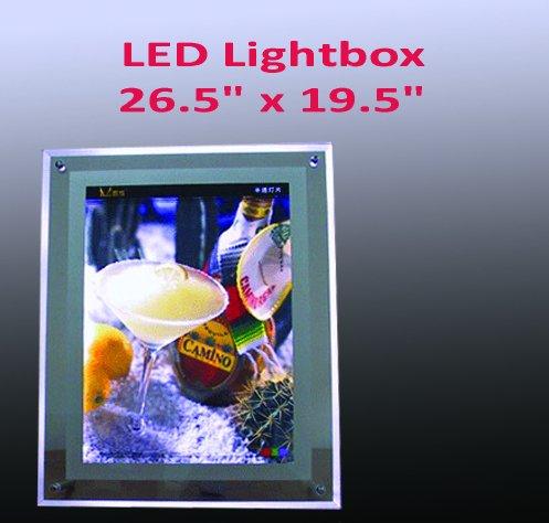 A2 Size LED Slim Crystal Frame Light Box 26.5