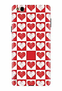 Noise Red And White Hearts Printed Cover for InFocus M680