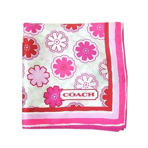 コーチ COACH アパレル F84260 フローラルプリント 27×27 スカーフ MIT(マルチカラー) 【アウトレット】【並行輸入品】