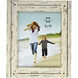 Prinz Homestead Distressed Wood Frame, 8 by 10-Inch, White