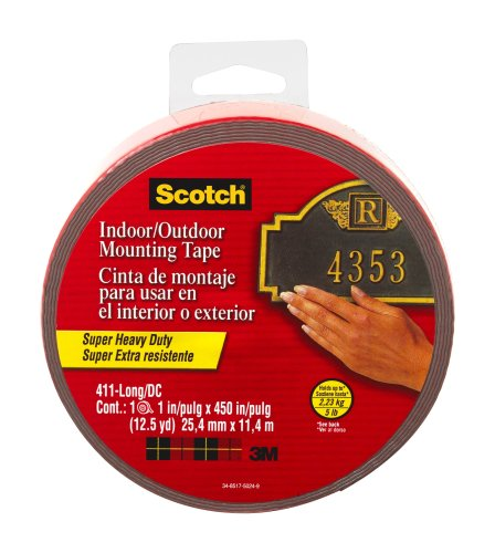 Scotch Exterior Mounting Tape, 1-Inch By 450-Inch
