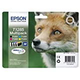 Epson T1285 Multipack - 4-pack - black, yellow, cyan, magenta - original - ink cartridge