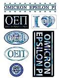 Omicron Epsilon Pi Sheet - Tie Dye Theme. 8.5