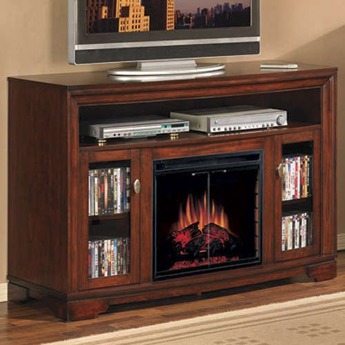 ClassicFlame Palisades Electric Fireplace Media Cabinet in Empire Cherry - 23MM070-C244 photo B0055GR0EI.jpg