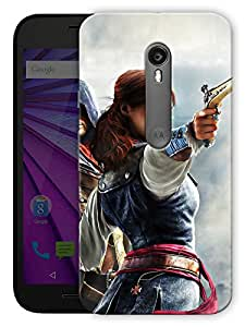 "Girl With Gun - Game Life Printed Designer Mobile Back Cover For ""Motorola Moto G3"" (3D, Matte, Premium Quality Snap On Case)"