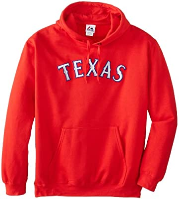 MLB Texas Rangers 300 Hitter Cooperstown Change Up Hooded Fleece, Athletic Red