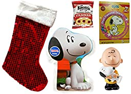 Peanuts Gang Holiday Incredible Christmas Stocking Gift Bundle (5 Pieces)