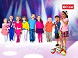 Karaoke Machine for Kids Sing Along, Includes 2 Microphones + Disco Flashing Lights & 3 Built-in Dance Beats for Hours of Fun. AUX Cable to Connect to All Your Electronic Devices for Music