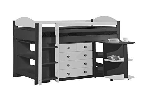 Design Vicenza Maximus Mid Sleeper Set 1 Graphite With White Details