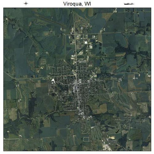 Aerial Photography Map of Viroqua, Wisconsin