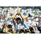 Maradona Football Poster. Printelligent Poster Collection Of Sports Stars For Die Hard Football Fans. Images Of Wall Decals Posters For Room In Home And Office. Poster-1