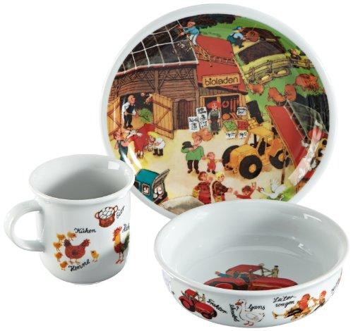 arzberg porzellan kindergeschirr bambini dekor auf dem lande wimmelbuch kindersatz. Black Bedroom Furniture Sets. Home Design Ideas