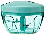 #3: Pigeon by Stovekraft New Handy Chopper with 3 Blades, Green