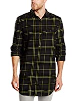 Cheap Monday Camisa Hombre Hid Check (Ciruela / Negro / Amarillo)