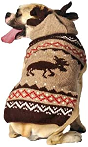 Chilly Dog Moosey Hoodie Dog Sweater, 3XX-Large