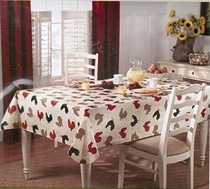 Paula Deen Rise N Shine Vinyl Tablecloth 70 inch Round
