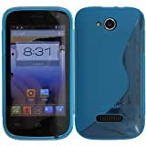 Original Phonecastle Schutzhülle Silikon Gel Case S-Line in Blau Silicon Tasche Hülle Mobistel Cynus F3