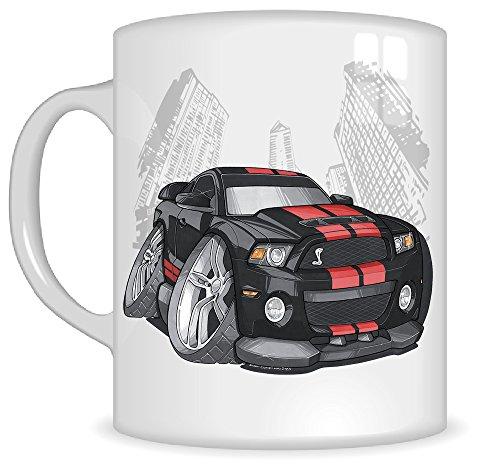 koolart-gifts-k3293-mg-cartoon-of-ford-mustang-gt500-caricature-black-red-ford-mug-gift-for-men-mugs