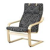 IKEA POANG アームチェア, バーチ材突き板, エースローヴ ブラック/ホワイト