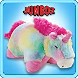 "Pillow Pets Authentic 30"" Rainbow Unicorn, folding Plush Pillow- Jumbo"
