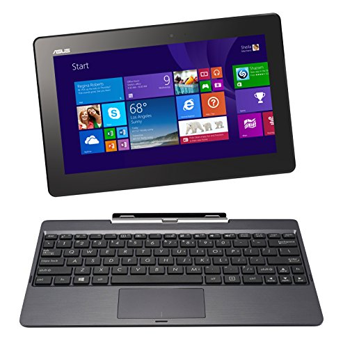 "Asus Transformer Book T100Ta-C1-Gr(S) 10.1"" Detachable 2-In-1 Touchscreen Laptop, 64Gb (Old Version)"