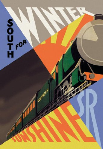 South for Winter Sunshine - Southern Railroad 12x18 Giclee on canvas