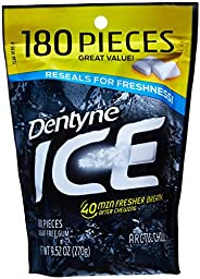 Dentyne Ice Sugar Free Gum, Pouch - Arctic Chill - 180 Piece - 4 Count