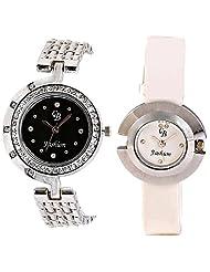 CB Fashion Combo Of Analog Multicolour Dial Women's Watch (RW136)