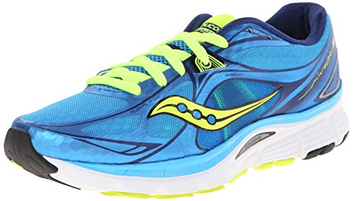 Saucony Women's Mirage 5 Running Shoe,Blue/Citron,9 M US