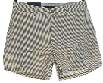 tommy hilfiger kurze hose shorts bermudashorts streifen w34 blau wei. Black Bedroom Furniture Sets. Home Design Ideas