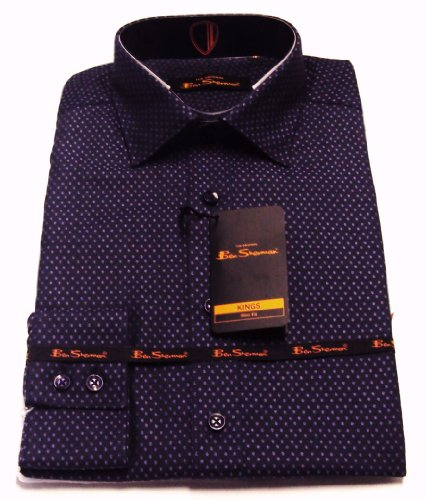 18 inch collar retro mod purple spot ben sherman shirts