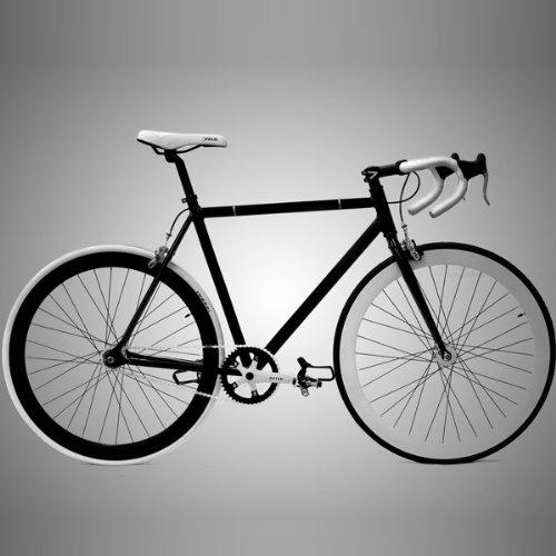 50 cm//Small Vilano Fixed Gear Bike Urban Single Speed Deep V Wheels Black//Red