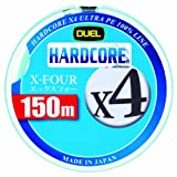 デュエル(DUEL) ライン HARDCORE X4 150m 0.8号 W
