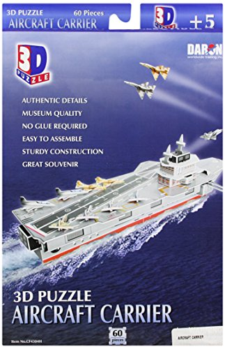 Daron Aircraft Carrier 3D Puzzle, 60-Piece