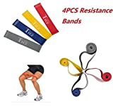 FF-life 4pcs Resistance Loop Band Exercise Yoga Bands Rubber Fitness Training Bands