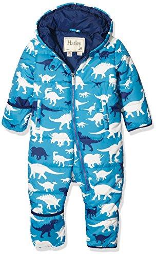Hatley Baby-Jungen Schneeanzug Puffer Bundler-Silhouette Dino, Blau, 86