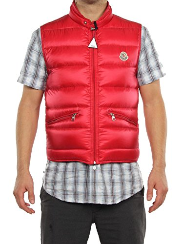 MONCLER GUI ROSSO 91 092 4331950 53048 giacca invernale smanicata piumino uomo-48