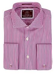 Sartorial Pure Cotton Striped Shirt [T11-4577-S]